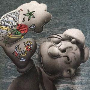 Tattooed Popeye T Shirt